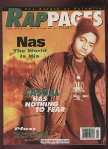 A 1994 magazine announcing Nas's galvanizing debut.